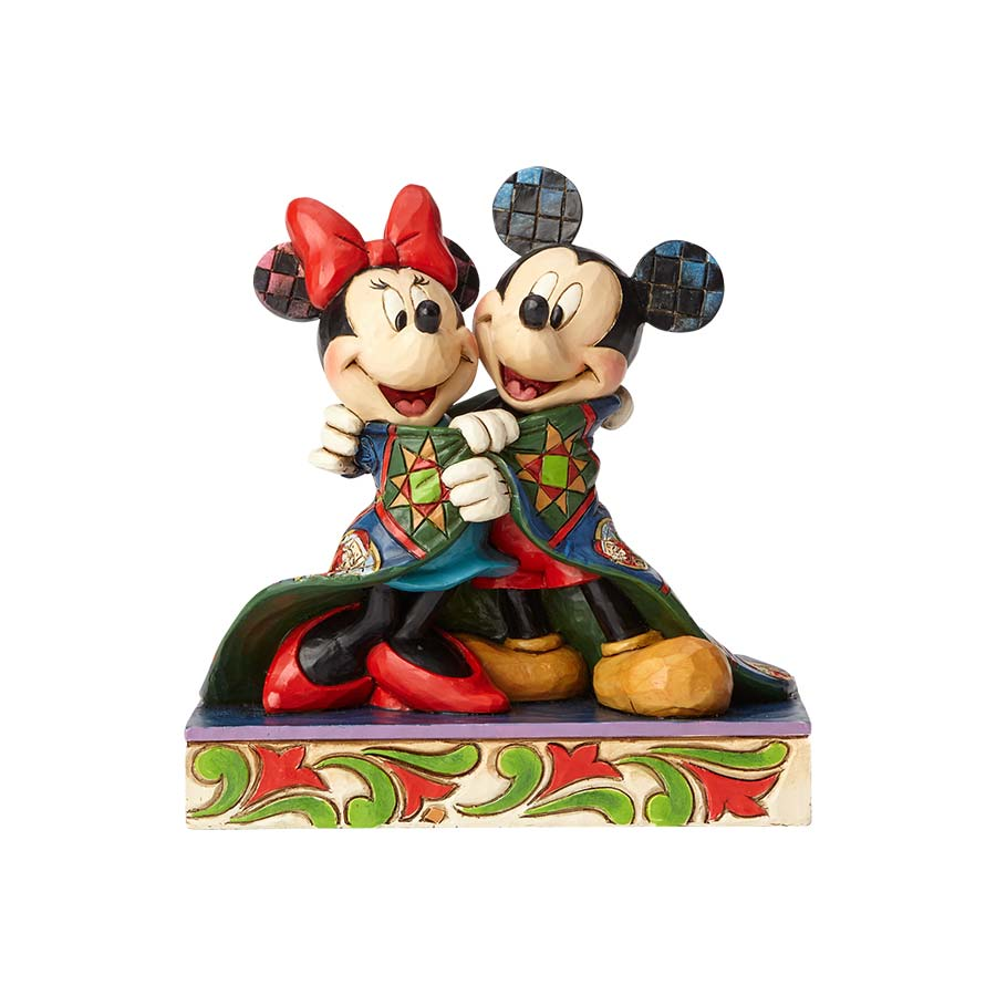 Mickey and Minnie With Quilt