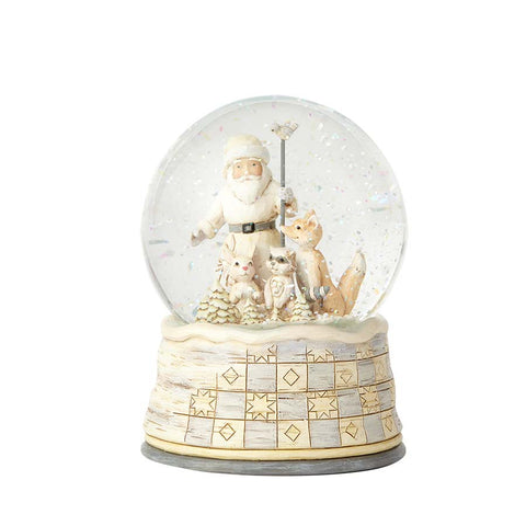White Woodland Santa Waterball
