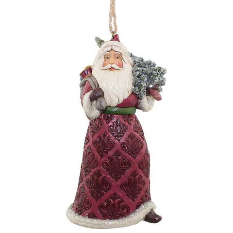 Victorian Santa with Tree Orn