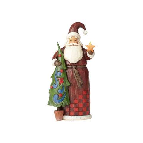 Folklore Santa with Tree