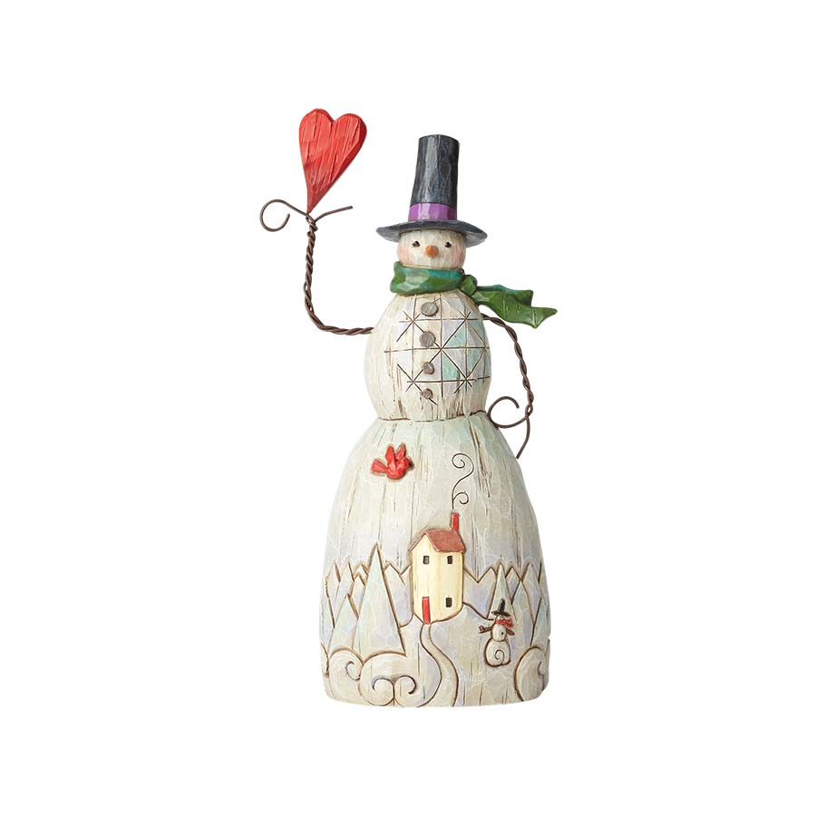 Folklore Snowman with Heart