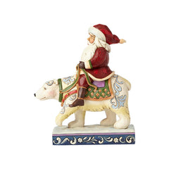 Santa Riding Polar Bear