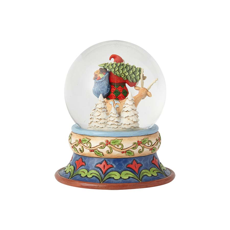 Santa with Deer Snowglobe