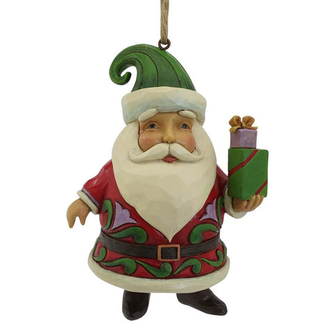 Santa Holding Gifts Ornament