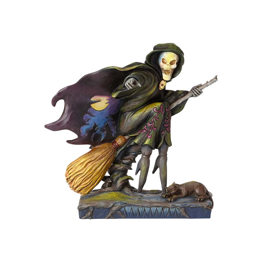 Skeleton Witch Riding Broom