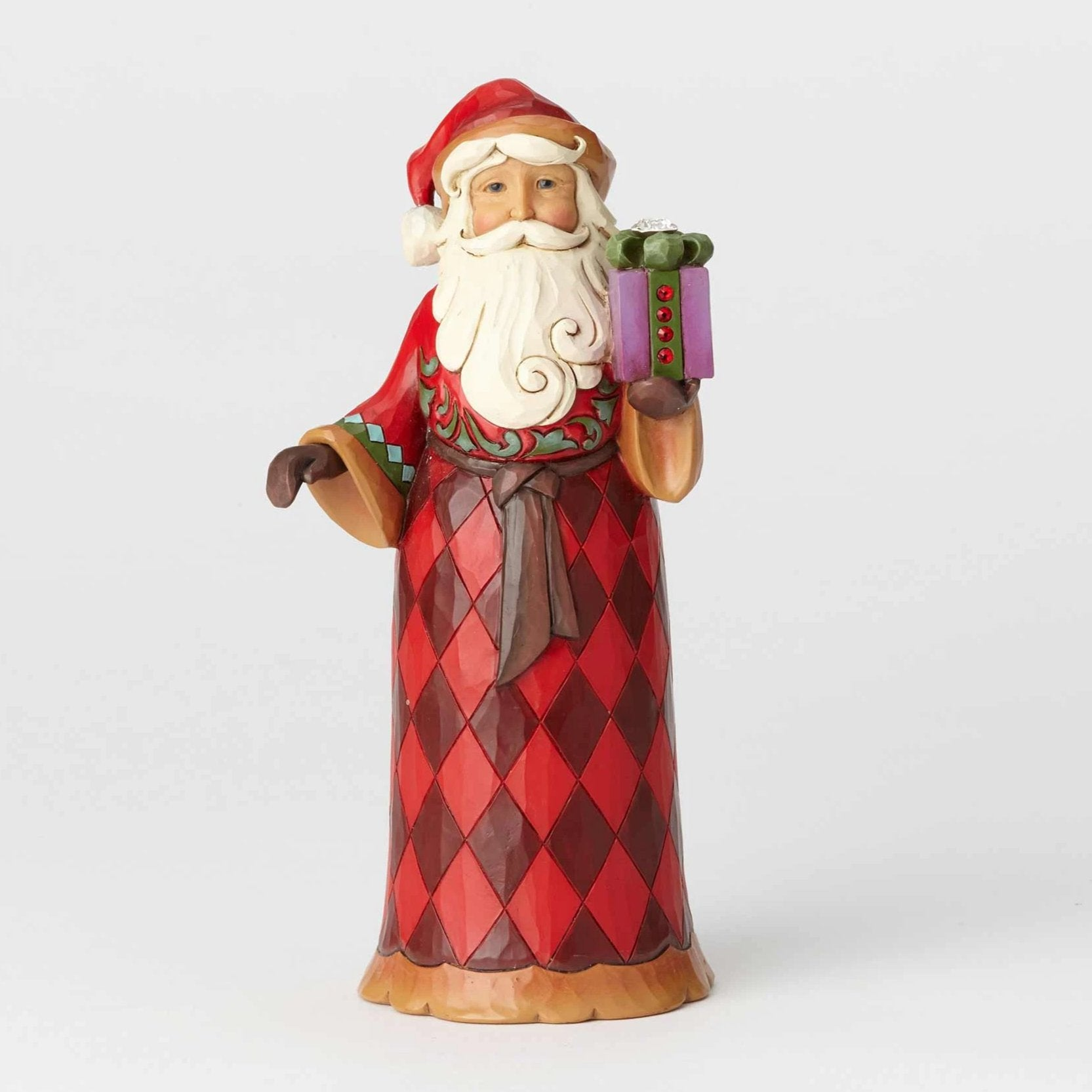 and santa vintagepoetic pin felt japan by decor decoration vintage christmas in claus plastic on decorative etsy made santas