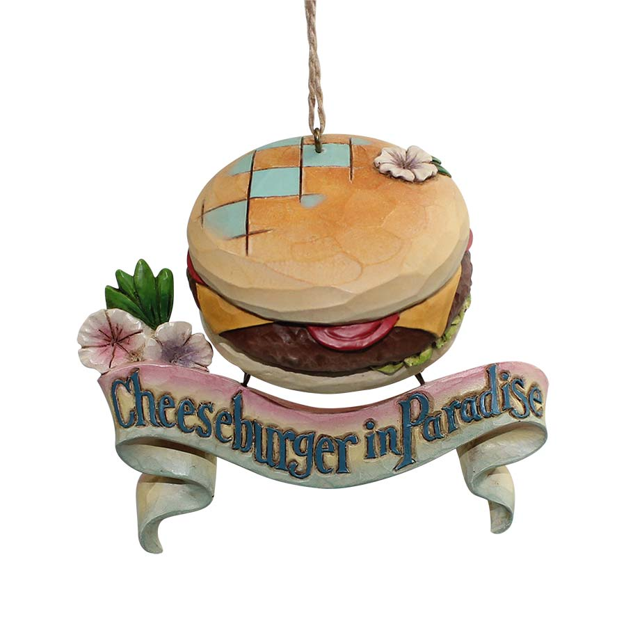 Cheeseburger Paradise Ornament
