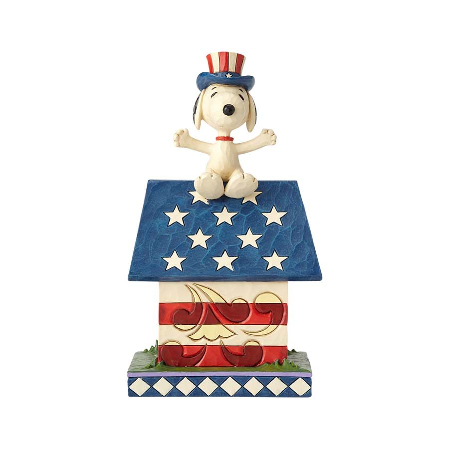 Snoopy Patriotic Doghouse