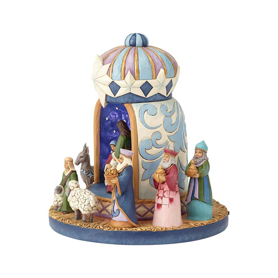 Lighted Nativity Crown