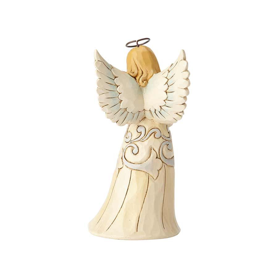 White Farmhouse Angel with Dog