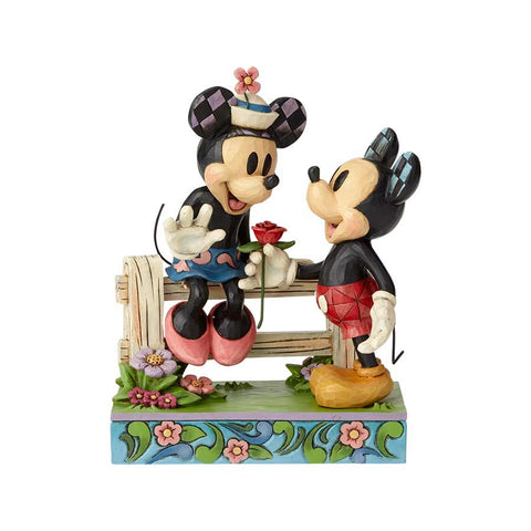Mickey  & Minnie by  Fence