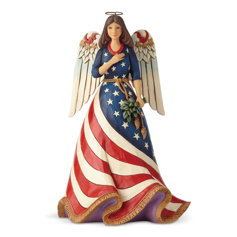 Patriotic Angel w/Flag Dress