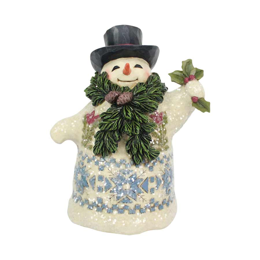 Victorian Snowman with Scarf