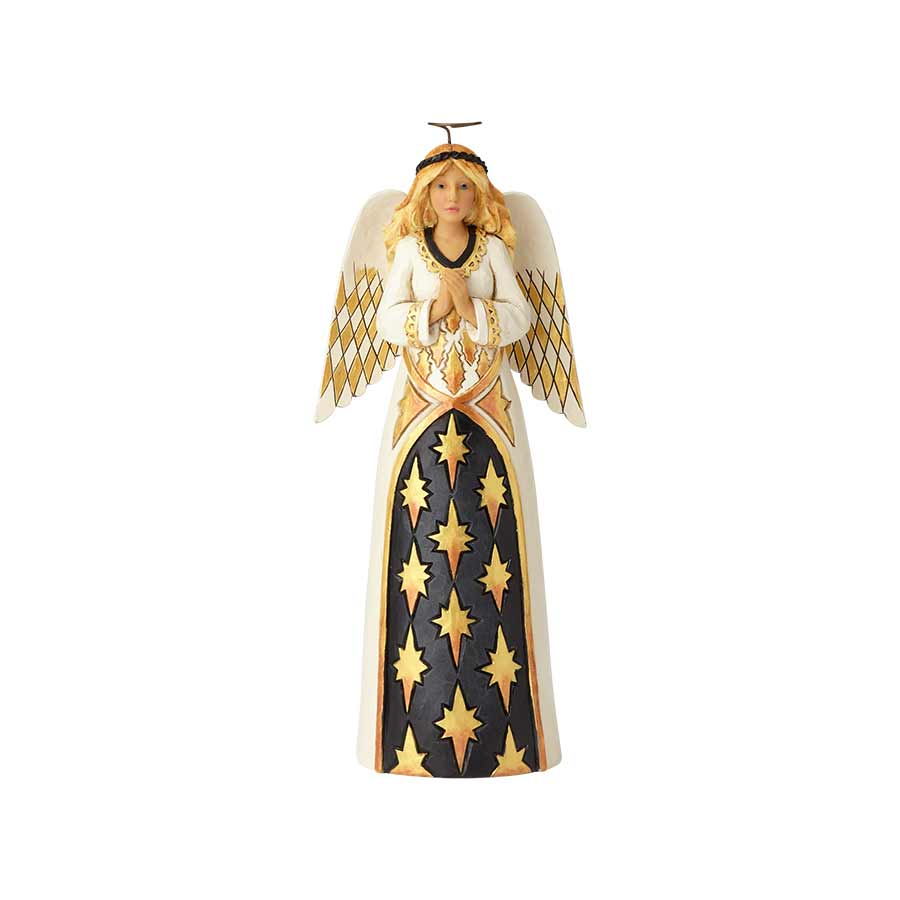 Black & Gold Praying Angel