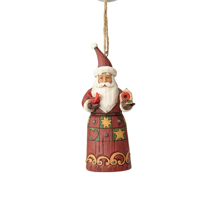 Folklore Santa with Birdhouse