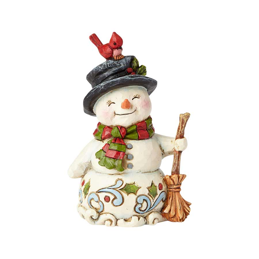 Mini Snowman with Broom