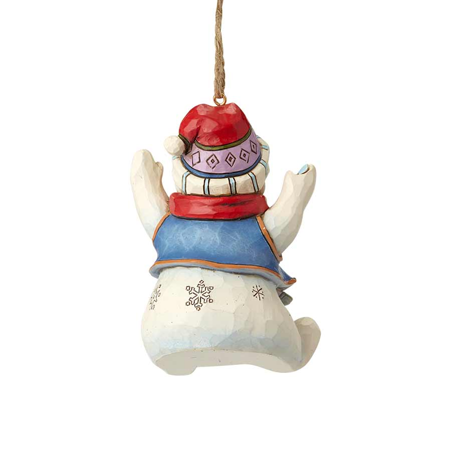 Sitting Snowman Ornament