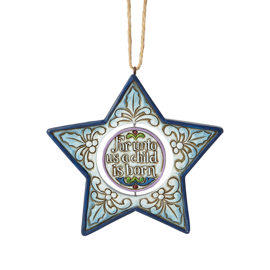 Nativity Star Shaped Ornament