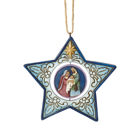 Star Shaped Nativity Ornament
