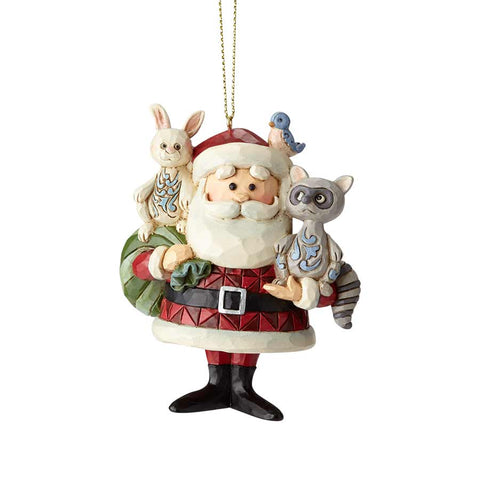 Santa with Woodland Animals