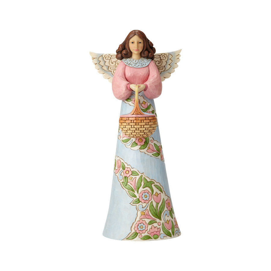 Angel w/Basket Garden Statue