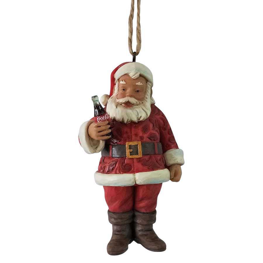 Santa with Coca-Cola Ornament