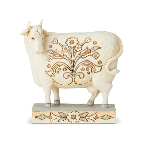 White Farmhouse Cow