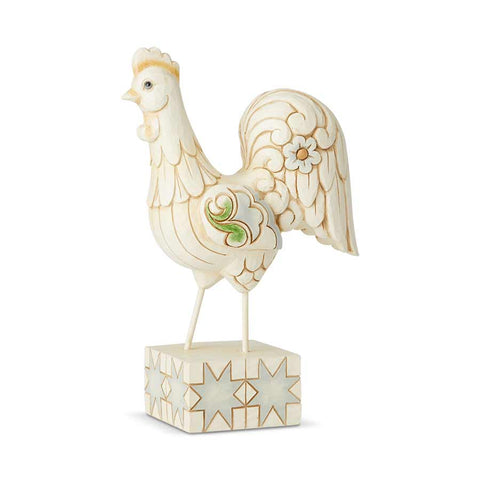 White Farmhouse Rooster