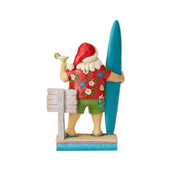 Santa With Surf Board