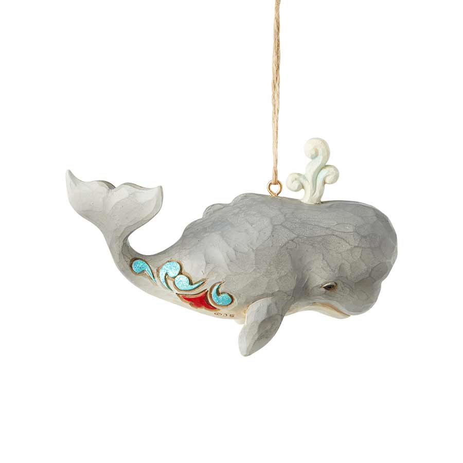 Coastal Whale Ornament