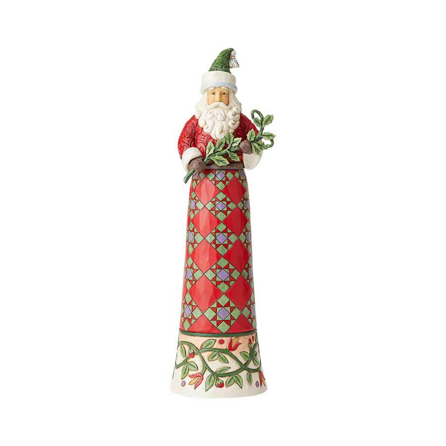 Tall Santa with Branch
