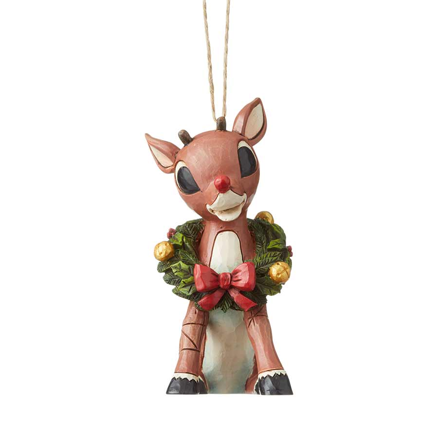 Rudolph With Wreath