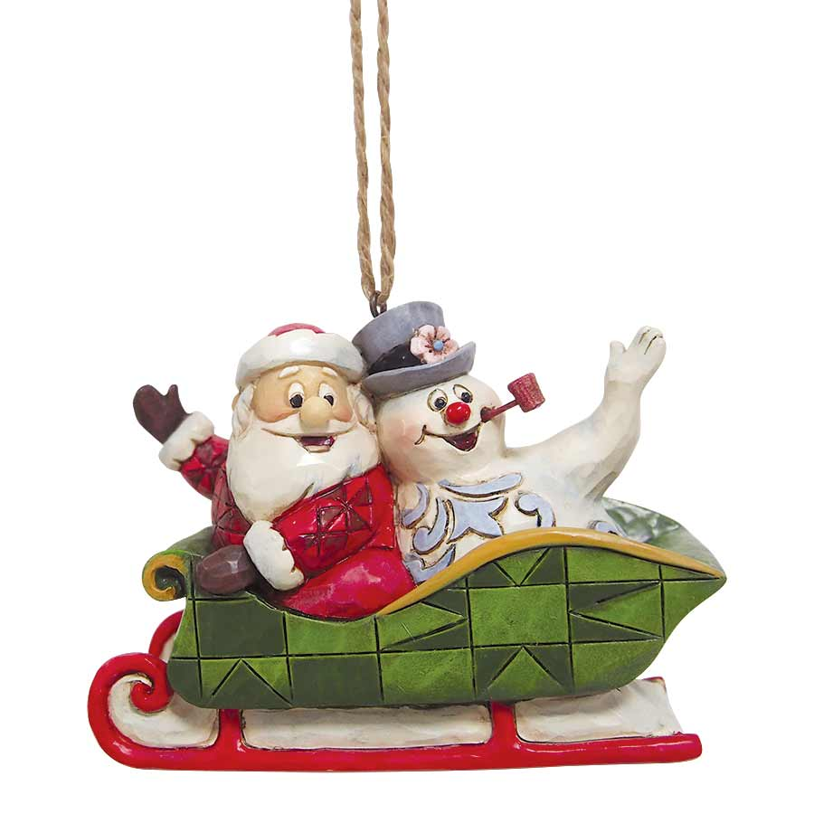 Santa And Frosty In Sleigh