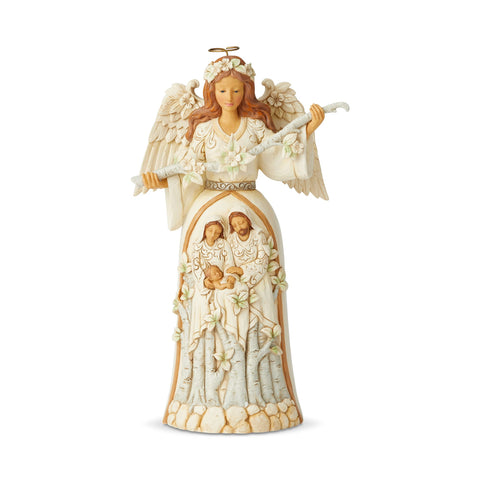White Woodland Nativity Angel