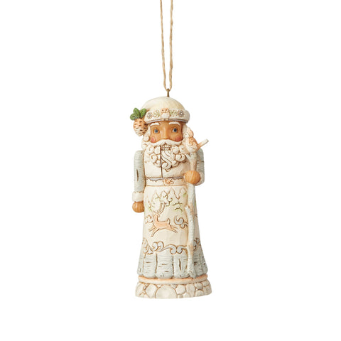 White Woodland Nutcracker Orn