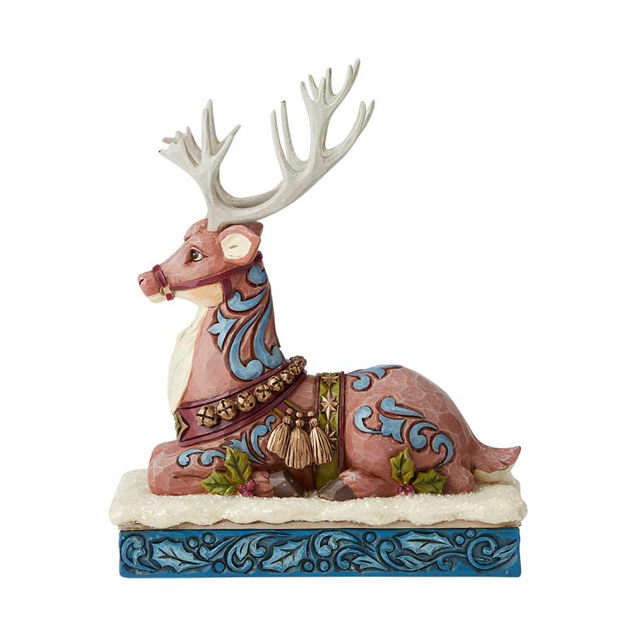 Victorian Reindeer Laying Down
