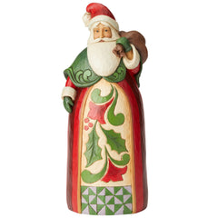 Santa with Toy Bag Statue