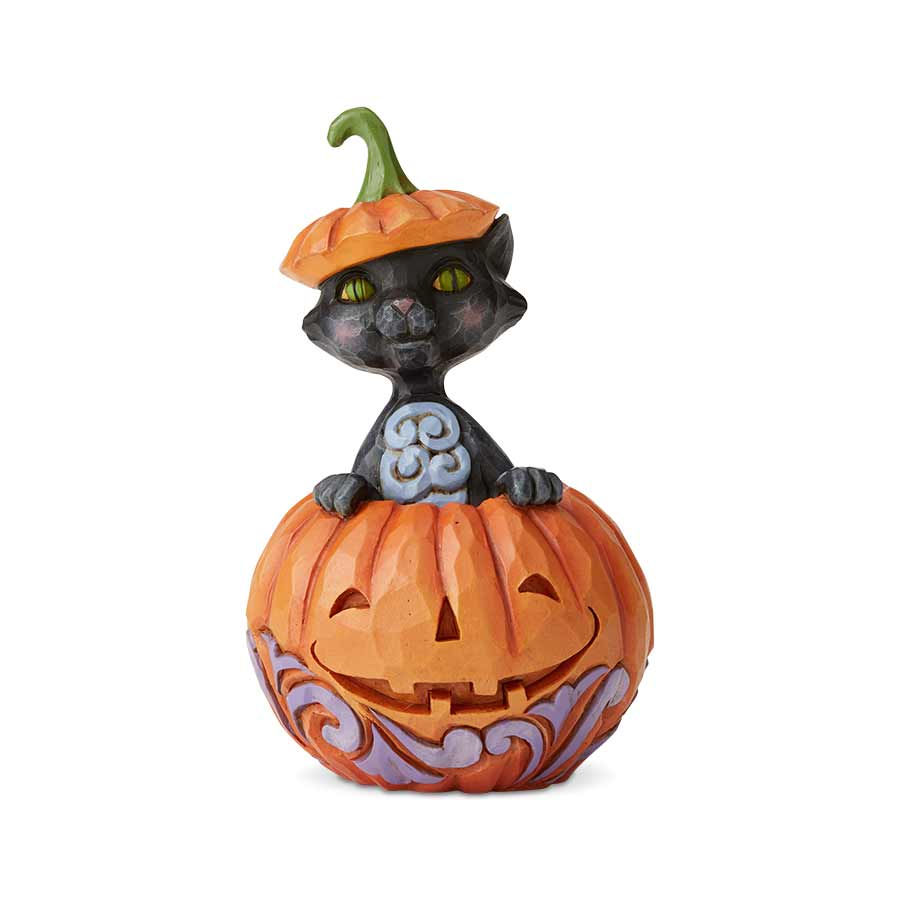 Cat In Pumpkin Mini