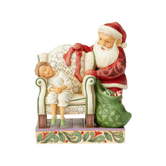 Santa Behind Chair by Child