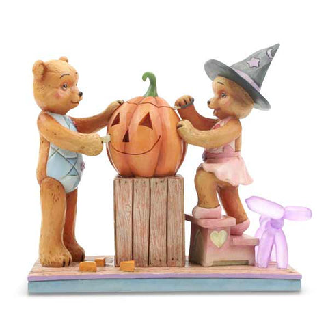 Button & Pinky Carving Pumpkin