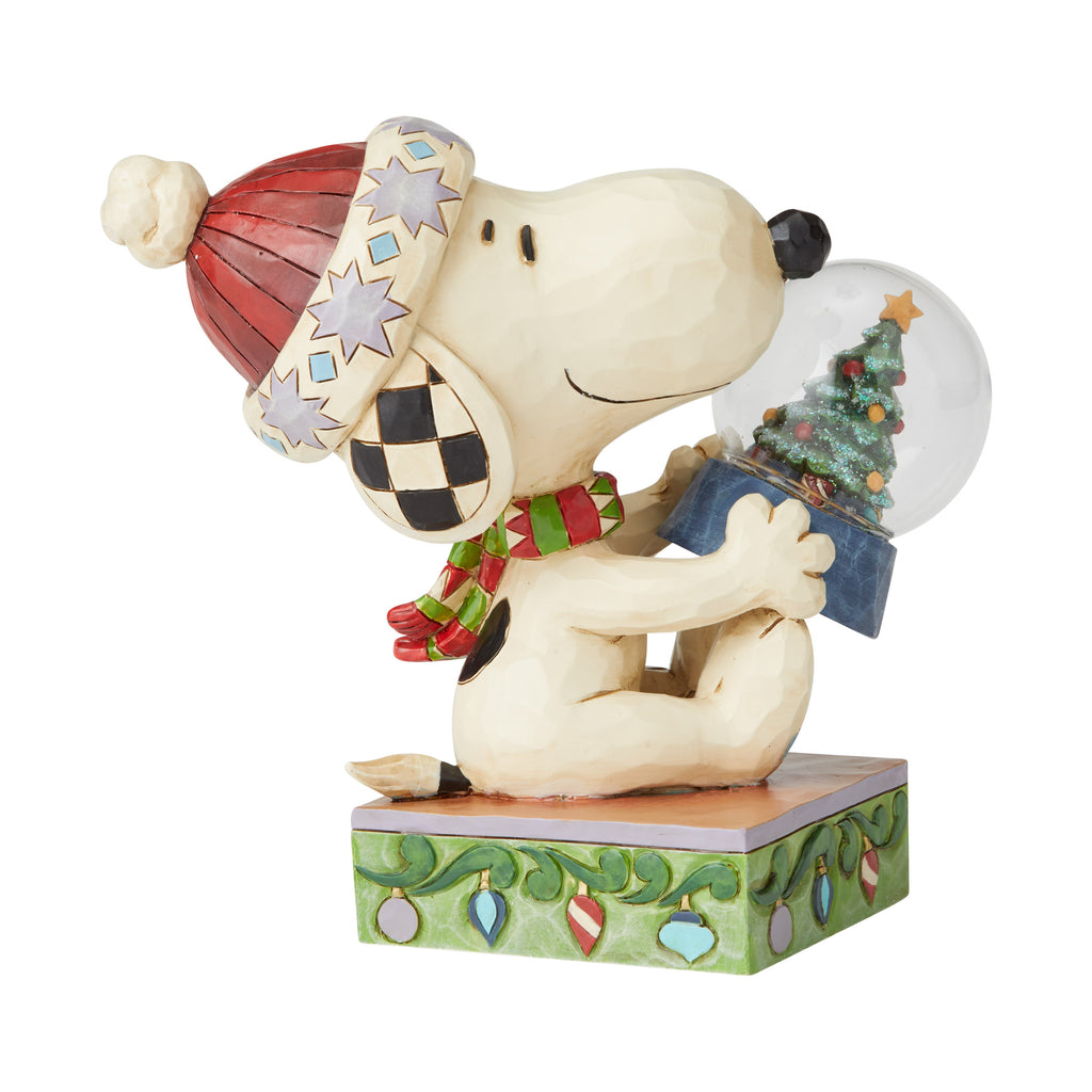Snoopy Holding Dome with Tree