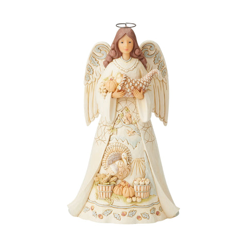 White Woodland Harvest Angel