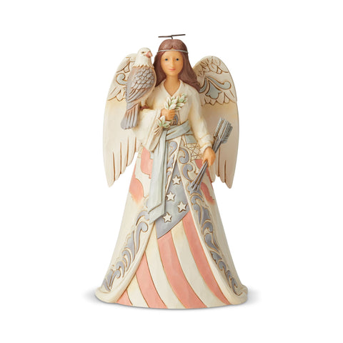 White Woodland Patriotic Angel