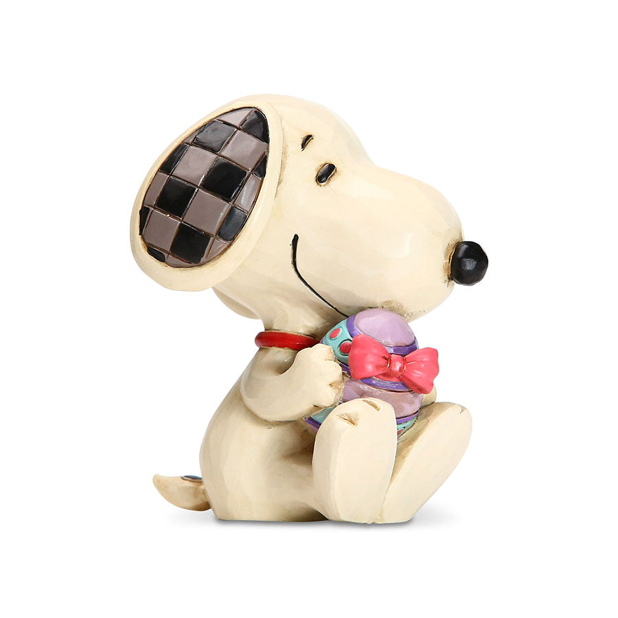 Mini Snoopy Holding Easter Egg