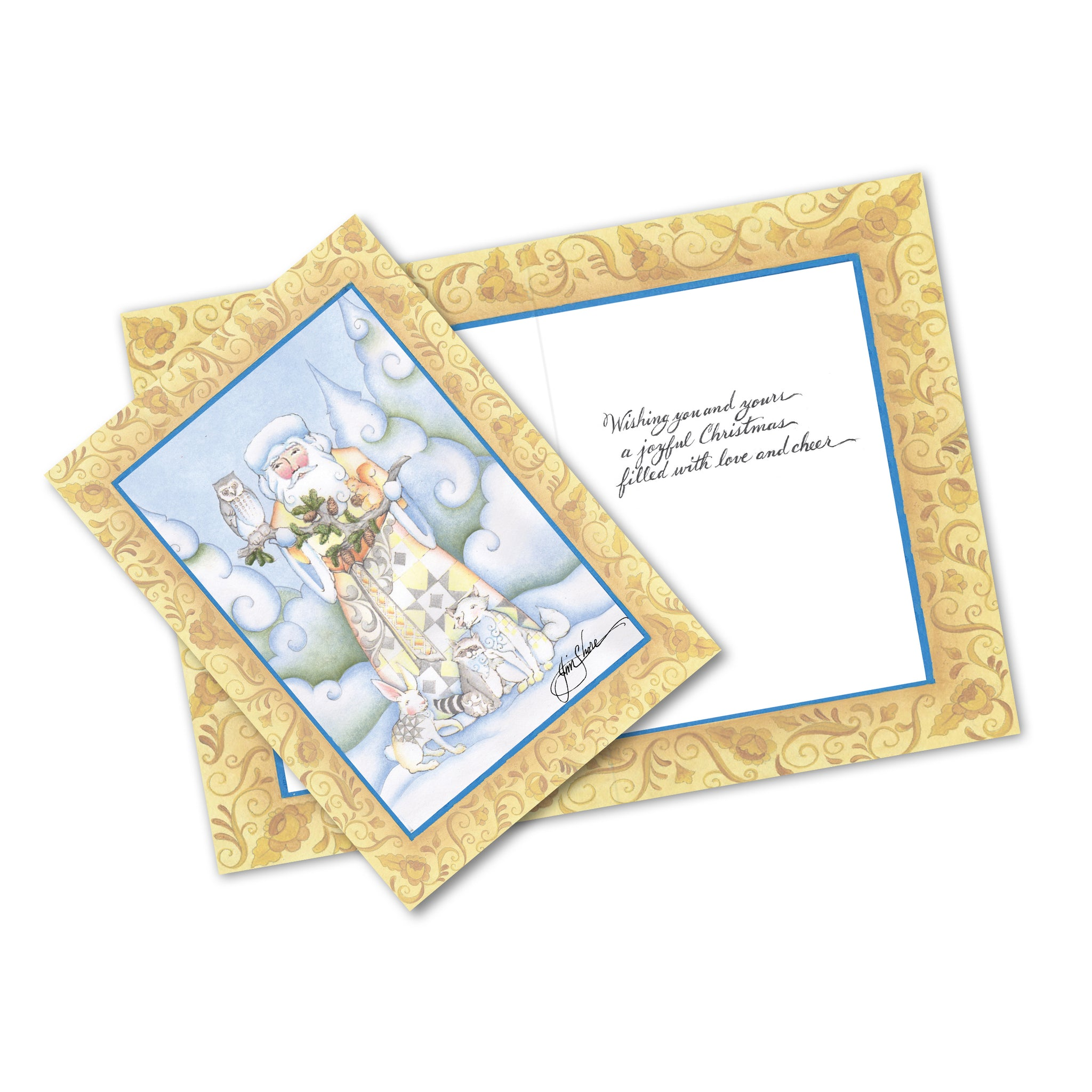 St 10 Wdl Santa Greeting Cards