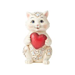 Pint Sized Cat Holding Heart