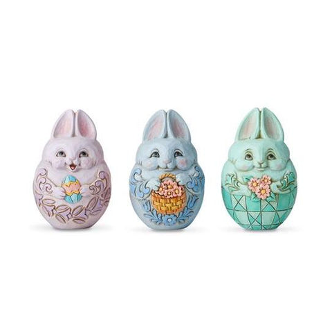 Set of 3 Mini Bunny Eggs
