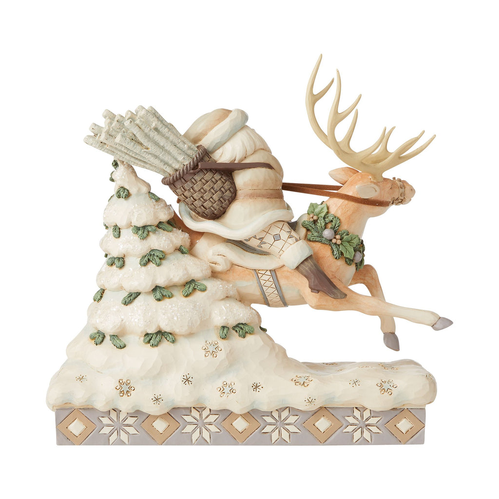 Woodland Santa Riding Reindeer