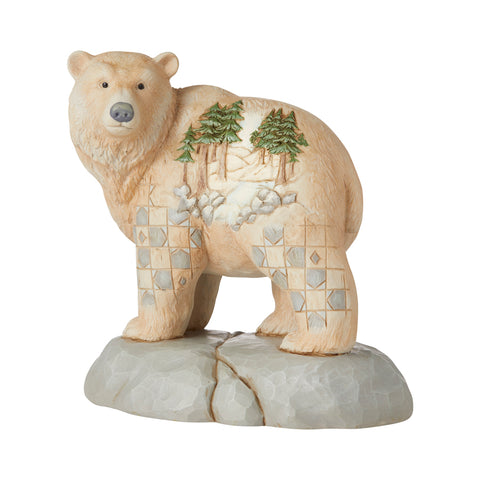 White Woodland Bear/Scene