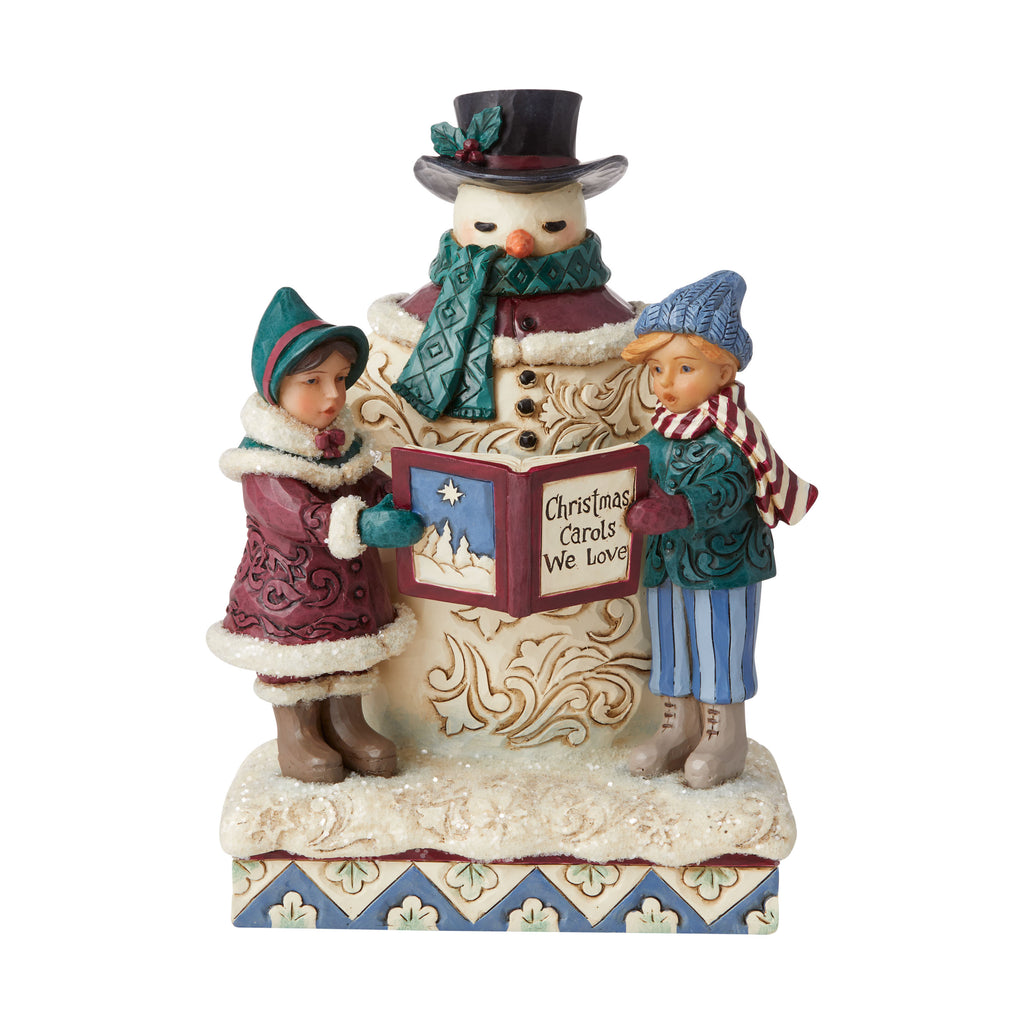 Victorian Snowman and Carolers